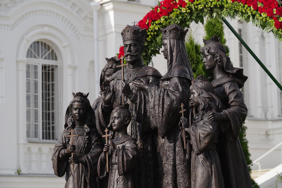 памятник царской семье Дивеево