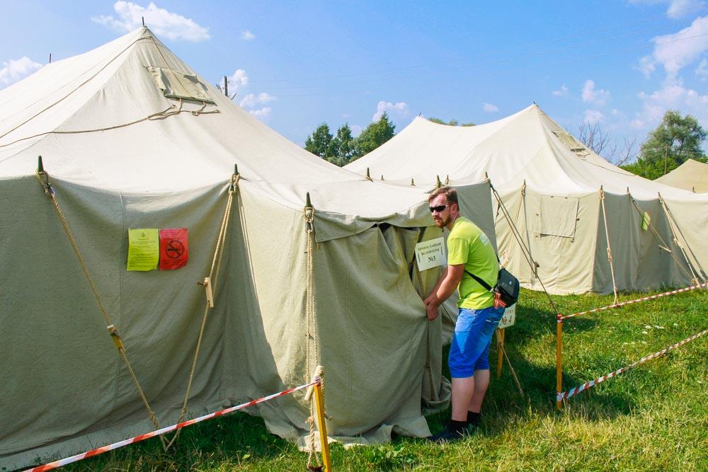 Палаточный городок в Дивеево