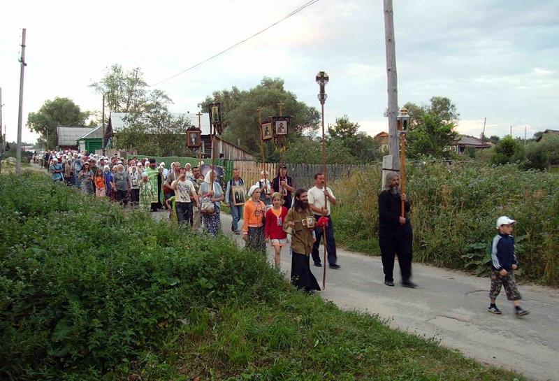 крестный ход в Дивеево