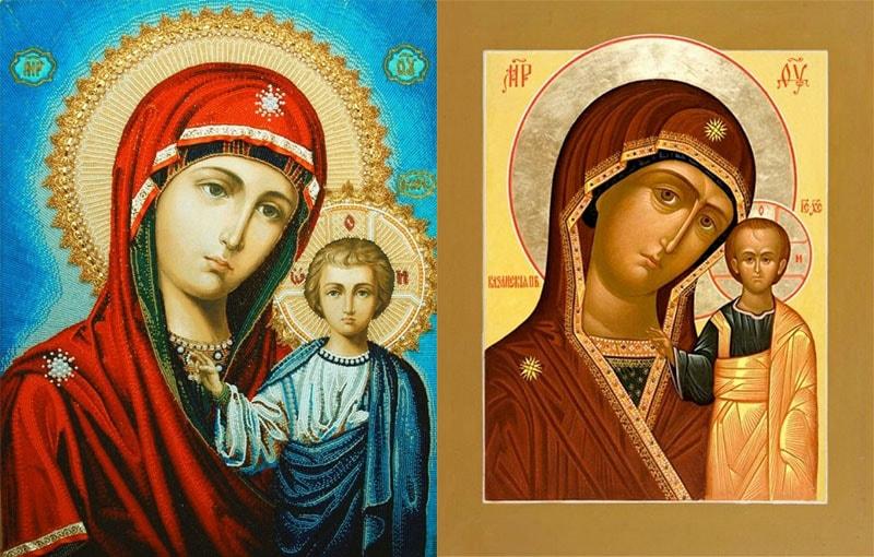 Казанская икона Божией Матери фото и описание и значение