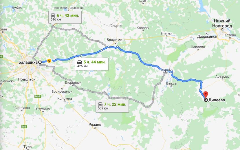 Поездка в Дивеево из Балашихи