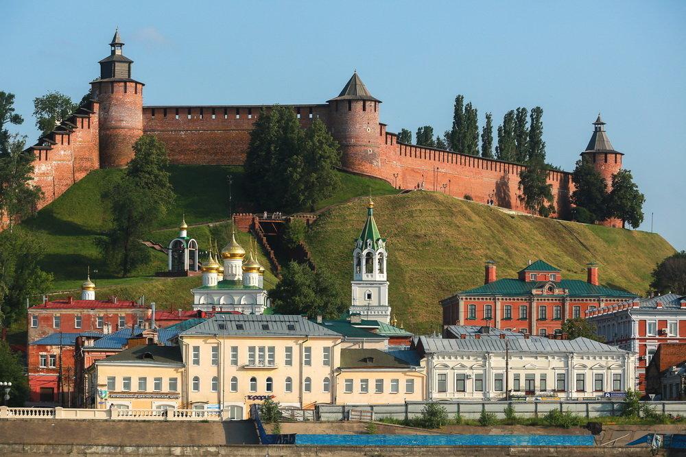 Старинные замки в России - кремль Нижнего Новгорода