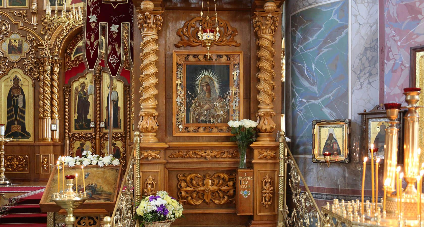 Икона Умиление в Троицком храме в Дивеево